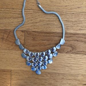 Silver express necklace